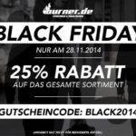 Sicher dir nur heute den Black Friday Rabatt von 25 % auf das komplette Sortiment bei Burner.de!
