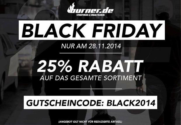 Burner Black Friday 2014