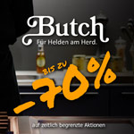 Sicher dir jetzt satte Rabatte von bis zu 70% auf Top Küchenzubehör im Onlineshop von Butch.