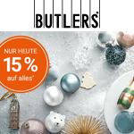 Jetzt sparen! 15% Rabatt auf alle Deko-, Wohn- und Geschenkideen bei Butlers