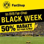 Schwarzgelbes Wochenende im BVB Fan-Shop – Spare bis zu 50% Rabatt auf viele Artikel