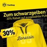 Schwarzgelber Freitag beim BVB, 30% Rabatt auf ausgewählte PUMA-Artikel!