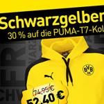 30% Rabatt auf die PUMA T7 Kollektion beim schwarzgelben Freitag von BVB