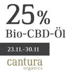 Sicher dir jetzt entspannende 25% Rabatt auf die Bio-CBD-Öle von Cantura Organics