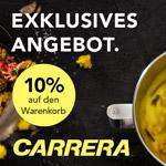 Spare jetzt 10% auf stylische Elektrogeräte von Carrera