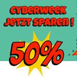Cyberweek bei caseable – 50% Rabatt auf das gesamte Sortiment an Schutzhüllen