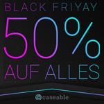 Einmalig 50% Rabatt auf alle Produkte im Online Shop von caseable