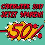Cyberweek bei caseable – 50% Rabatt auf alle Produkte im Online-Store!