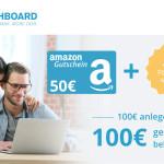 Sichere dir deine Neukundenprämie von 100 Euro und einen Amazon Gutschein bei Cashboard!