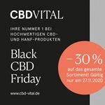 Black CBD Friday bei CBD Vital: 30% Rabatt auf alle CBD- und Hanf-Produkte!