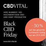 Black CBD Friday – 30% Rabatt auf das gesamte Sortiment an hochwertigen CBD Produkten bei CBD Vital