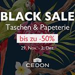Black Sale – Sicher dir bis zu 50% Rabatt auf Taschen und Papeterie im Shop von Cedon