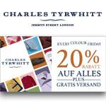 Das Leben ist bunt – Sicher dir noch heute 20% Rabatt auf alle Farben bei Charles Tyrwhitt plus gratis Versand