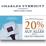 20% Rabatt plus gratis Versand – Shoppe jetzt das Cyber Monday Angebot bei Charles Tyrwhitt bevor es heute endet!