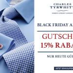 Noch bis Sonntag gibt es 15% Rabatt auf alle Artikel beim Herrenausstatter Charles Tyrwhitt!