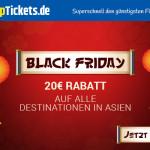 Cheaptickets gewährt nur heute 20 Euro Rabatt auf alle Destinationen in Asien!