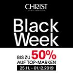 BLACK WEEK bei Christ – Bis zu 50% Rabatt auf Uhren- und Schmuck-Highlights von Top Marken!