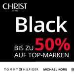 Nur für kurze Zeit bis zu 50% Rabatt auf Top Markenuhren und Schmuck mit den Black Week Deals bei Christ