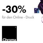 30% Rabatt für deine erste Bestellung bei Chroma – die meist innovative Online-Druckerei in Europa!