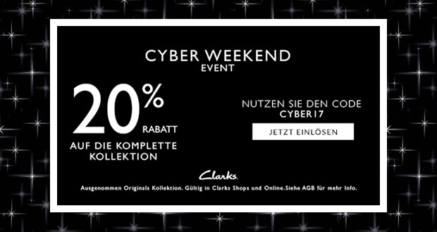 Clarks Cyber Weekend Eevent 2017