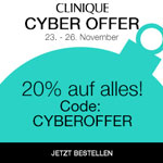 Cyber Offer bei Clinique – 20% Rabatt auf alles!