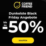 Spare jetzt bis zu 50% mit den dunkelsten Black Friday Angeboten bei Coffee Friend