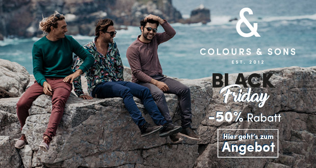 Colours & Sons Black Friday 2018