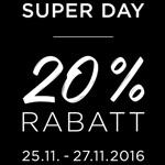 comma, lädt zum Superday und gewährt 20% Rabatt auf das gesamte Sortiment