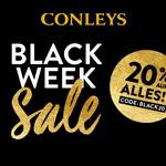 Black Week Sale bei Conleys mit 20% Rabatt auf das gesamte Sortiment!