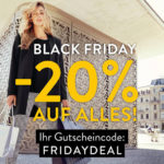 Erhalte nur heute 20% Rabatt im Fashion Online Shop von Conleys!