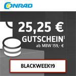 Black Week bei Conrad – Sicher dir bis zu 25,25 EURO Rabatt
