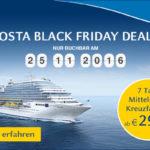 Nur heute Buchbar bei Costa: 7 Tage Mittelmeer Kreuzfahrten ab 299€ pro Person!