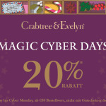 Spare 20% bei den Magic Cyber Days im Online-Shop von Crabtree & Evelyn!