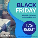 Spare jetzt 15% auf das gesamte Sortiment an hochwertigen Fliesen- und Möbelfolien von Creatisto
