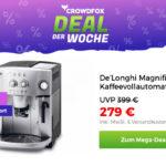 Bestelle jetzt den De'Longhi Kaffeevollautomat und spare volle 120,-€ bei Crowdfox