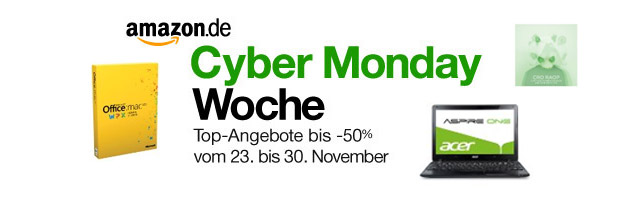 Cyber Monday Blitzangebote Angebote vom 26.11.