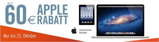 Bis zu 60 Euro Rabatt auf Apple-Produkte