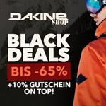 Black Deals bei Dakine Shop – Bis zu 65% Rabatt + 10% Gutschein On-Top!