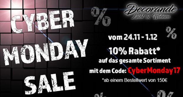 Decorande Cyber Monday 2017