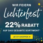 Lichterfest bei Deerberg mit 22% Rabatt auf das gesamte Sortiment