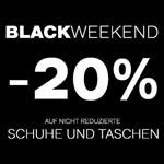Black Weekend bei Deichmann: 20% Rabatt auf ALLE nicht reduzierten Schuhe und Taschen im Shop