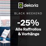 BLACK WEEKEND bei Dekoria -25% auf alle Vorhänge und Raffrollos