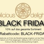 delicious-delights.de Black Friday Sale: Bis zum 30. November 10 Prozent auf Alles