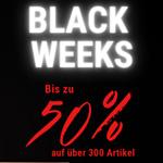 Black Weeks bei Delife: Spare bis zu 50% auf über 300 Artikel