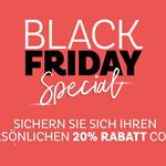 Sicher dir jetzt deinen persönlichen 20% Rabatt Code für die Black Friday Special Deals bei Depot