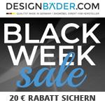 Großer Black Week Sale bei Designbaeder.com – Jetzt bestellen und 20 EURO Rabatt sichern