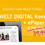 1 Jahr DIE WELT Digital Komplett + ePaper für nur 39,99 Euro lesen und 66% zum Normalpreis sparen!