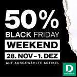 50% Rabatt beim Black Friday Weekend im Online Shop von Dosenbach