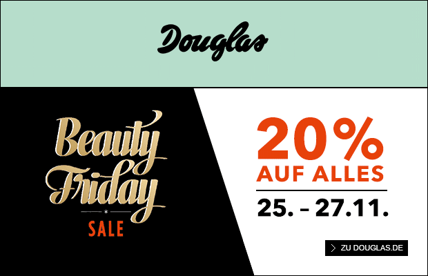 20 auf alles beim gro en beauty friday sale von douglas black. Black Bedroom Furniture Sets. Home Design Ideas