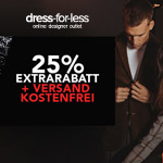 25% Extrarabatt + kostenfreier Versand beim Black Weekend auf dress-for-less.de